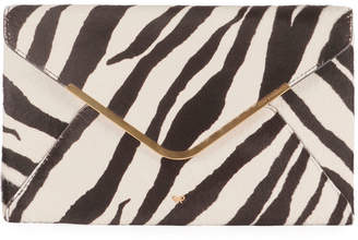 Anya Hindmarch Postbox Zebra Envelope Clutch Bag
