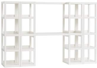 Pottery Barn Teen Austin Desk Superset (Desk + Hutch + 2 Towers), Simply White