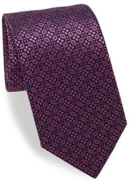 Charvet Alternating Patterned Silk Tie