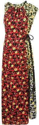 Proenza Schouler Multi Floral Asymmetrical Dress