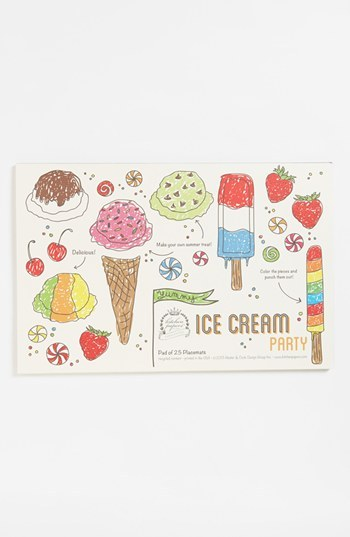 Kitchen Papers by Cake 'Ice Cream Party' Kids Paper Placemat Pad