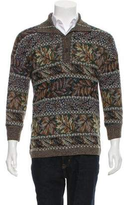 Missoni Leaf Pattern Wool Sweater