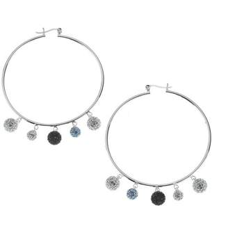Evoke Women's Creole Stars with Real Swarovski Crystals - 925 Sterling Silver - 269210001