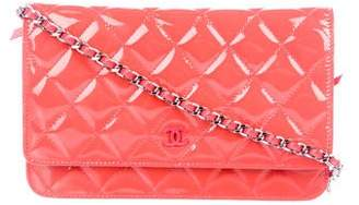 Chanel Patent Wallet On Chain