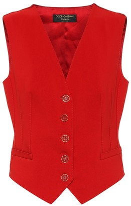 Dolce & Gabbana Exclusive to Mytheresa cotton and silk-blend vest