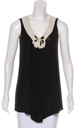 Fendi Bow-Accented Sleeveless Top