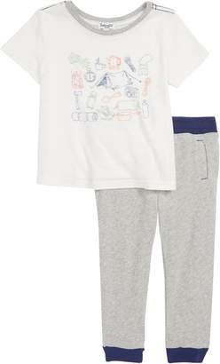 Splendid Camping Graphic T-Shirt & Pants Set