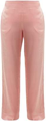 ASCENO Striped wide-leg silk pyjama trousers
