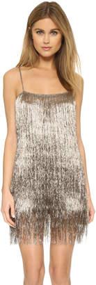 Rachel Zoe Della Fringe Metallic Mini Dress $495 thestylecure.com