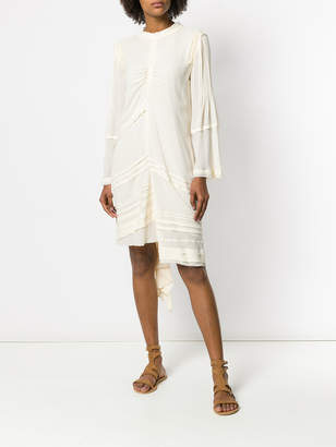 Chloé Ruffle trim asymmetric dress