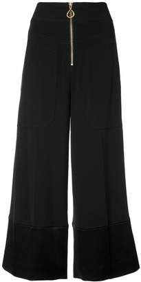 Derek Lam 10 Crosby Wide Leg Pant With Contrast Cuff
