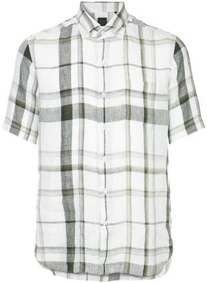 Durban D'urban plaid short sleeve shirt