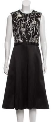 Jason Wu Sleeveless Midi Dress Black Sleeveless Midi Dress