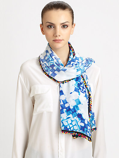 Athena Procopiou Silk Crepe Lalhambra Scarf