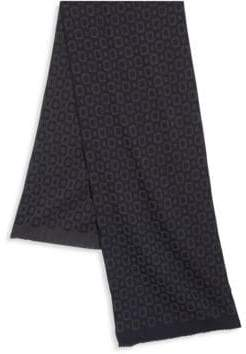 Saks Fifth Avenue COLLECTION Square Printed Wool Blend Scarf