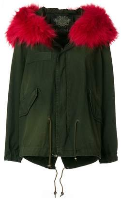 Mr & Mrs Italy detachable trim midi parka