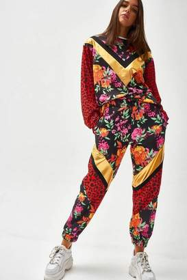 Jaded London Womens **Mixed Animal And Floral Print Joggers