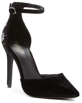 Rachel Zoe Hayworth Embellished Velvet Pump