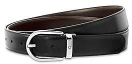 Montblanc Men's Reversible Cut-To-Size Casual Belt