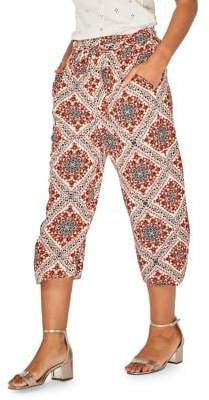 Dorothy Perkins Tile-Print Cropped Trousers
