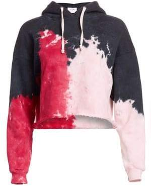 RE/DONE Crop Raw Tie Dye Hoodie