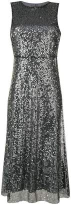 Ermanno Ermanno sleeveless sequin and lace midi dress