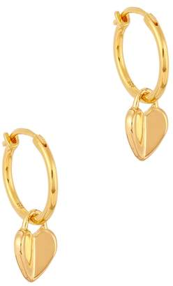 Missoma Folded Heart 18kt Gold Hoop Earrings