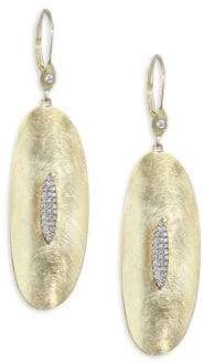 Meira T Diamond& 14K Yellow Gold Drop Earrings