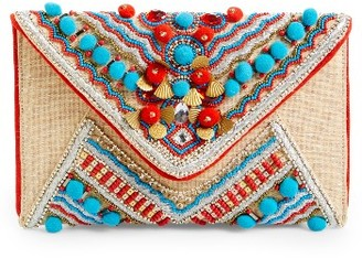 Shiraleah Beaded Envelope Clutch - Beige $58 thestylecure.com