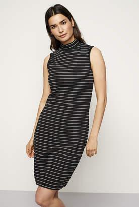 Long Tall Sally Turtle Neck Stripe Rib Dress