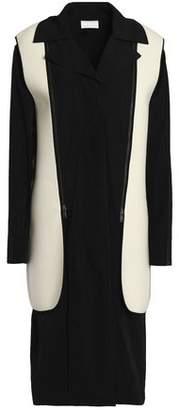 DKNY Detachable Felt-Paneled Gabardine Coat