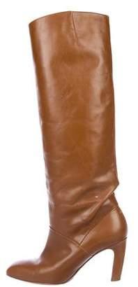 Dries Van Noten Leather Knee-High Boots