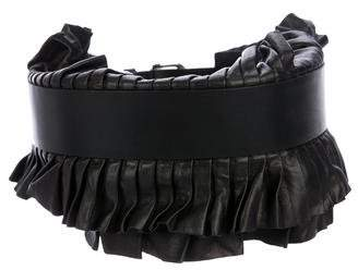 Isabel Marant Leather Ruffled Belt