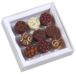 Sur La Table Richart® Parisian Chocolate Macarons, 9 pieces