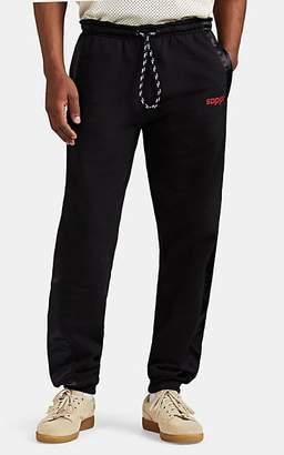 adidas by Alexander Wang Men's Satin-Trimmed Fleece Jogger Pants - Black