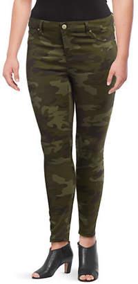 DESIGN LAB Plus Skinny-Fit Camo Jeans