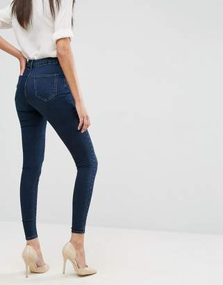 Asos Design DESIGN 'Sculpt me' high waisted premium jeans in dark wash blue
