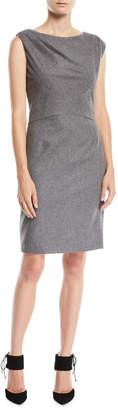 Kiton Sleeveless Wool Sheath Dress