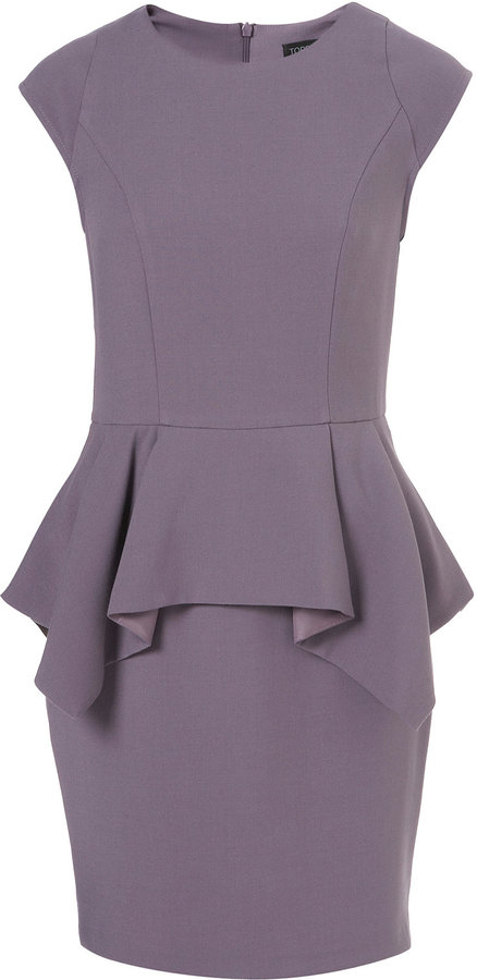 Topshop Peplum Pencil Dress