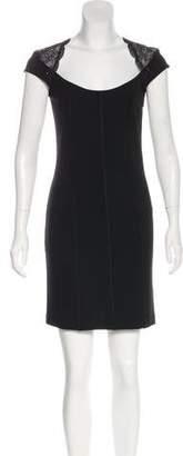 Blumarine Lace-Paneled Mini Dress