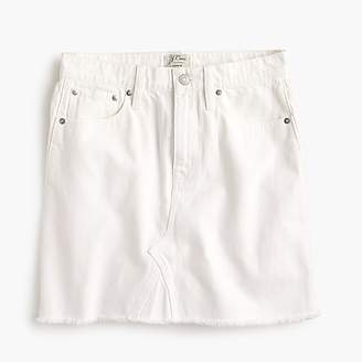 J.Crew White denim skirt