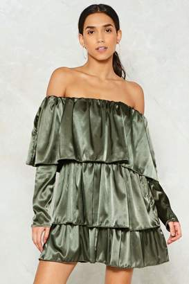 Nasty Gal I Can't Tier You Satin Mini Dress