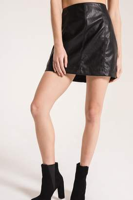 Others Follow Adela Faux-Leather Skirt