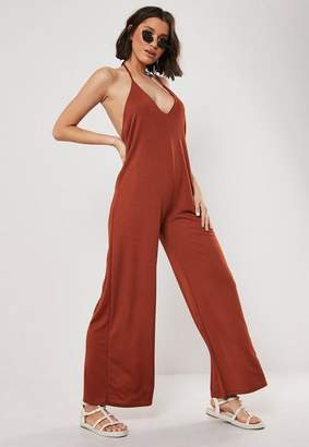 Missguided Tall Orange Oversized Wide Leg Romper