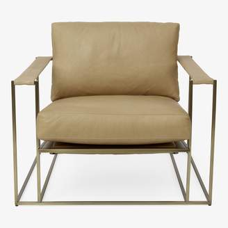 Thayer Coggin + Milo Baughman Leather Sling Chair