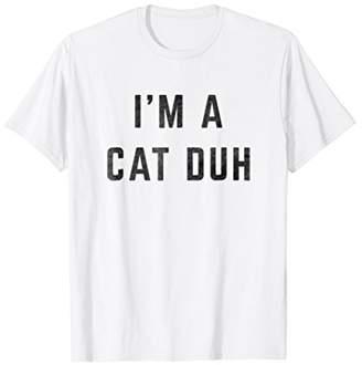 Distressed I'm a Cat Duh Halloween Costume Shirt