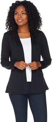 Denim & Co. Essentials Heavenly Jersey Cardigan with Peplum Back