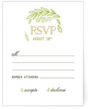 Gathering Of Leaves RSVP Cards