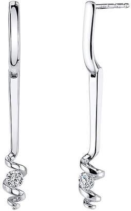 Sirena 1/5 CT. T.W. Diamond 14K White Gold Earrings