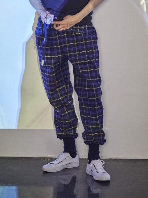 [Unisex] Check Jogger Trouser